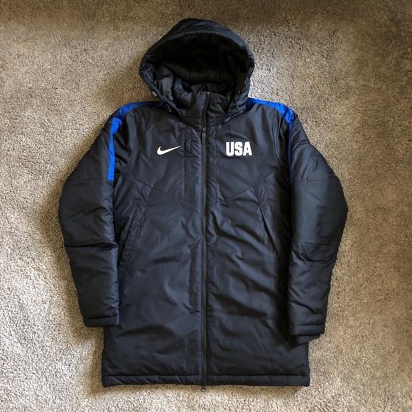 77868d403 Nike Jackets & Coats | Womens Team Usa Parka Puffer Jacket Insulated ...